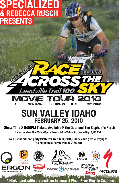 Race Across The Sky movie tour via Rebecca Rusch