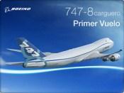 B747-8 F First Flight