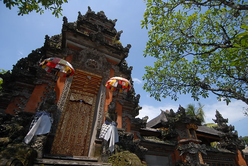 Balinese architectural elements appear on everyday structures and temples alike.