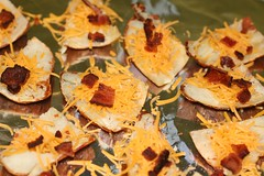ps with cheese and bacon