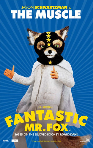 Fantastic Mr. Fox (2009) character poster-The-Muscle