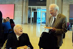 Ronald Coase (L), Gary Becker (R), @ 2009 Coase Conference (Day 2), University of Chicago School of Law