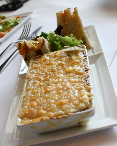 Mushroom Cannelloni baked with Raclette Cheese at Lolo Dad's Brasserie