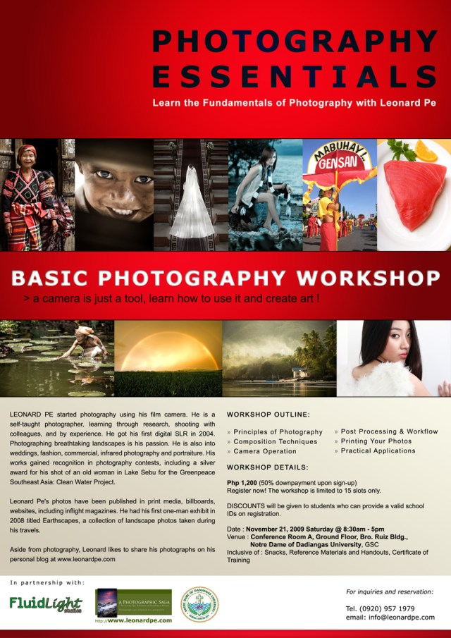 Leonard Pes Basic Photography Workshop