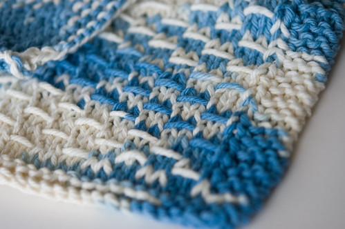 slipped stitch dishcloths (by bookgrl)