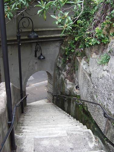 Down steps at the Rocks
