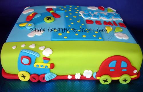 1ST BIRTHDAY CAKE - DEMIR
