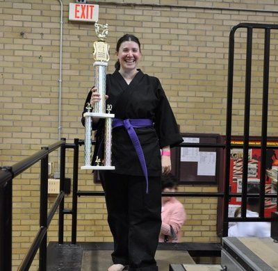 Senior Women's Beginner kata, first place.