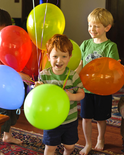 Patrick in the Balloons