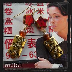 orecchini rossi - red earrings INORFIO