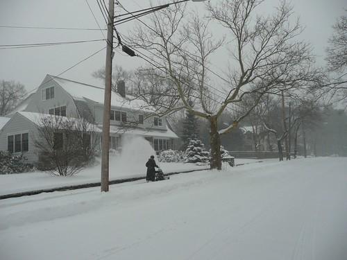 Lone snowblower