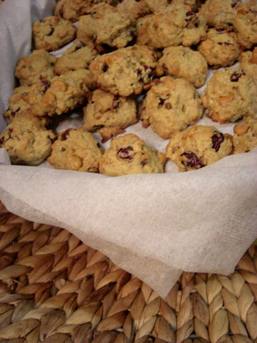 cookies with butterscotch and cranberries