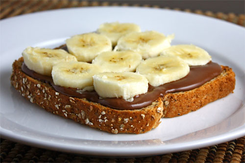 Banana and Nutella Sandwich  by you.