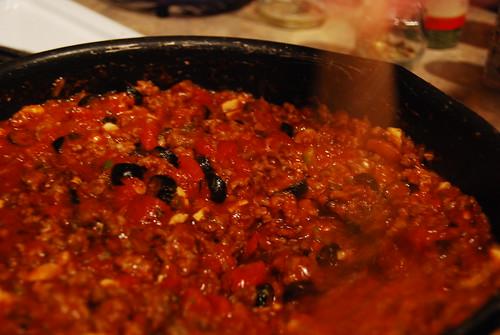 simmering sauce