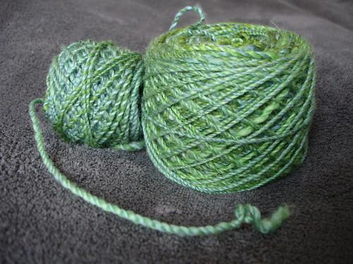 Winter Greens handspun