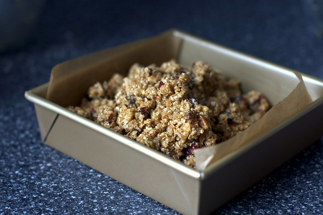 """granola """"batter"""", to be baked"""