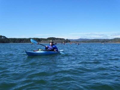 Alan paddling