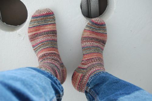 Hubby's Dumbledore socks