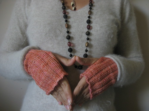 ribbed hand warmers - under sleeves