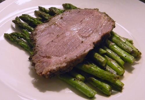 Porchetta & grilled asparagus