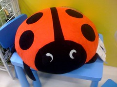 Adorable lad bug floor pillow thingy at IKEA