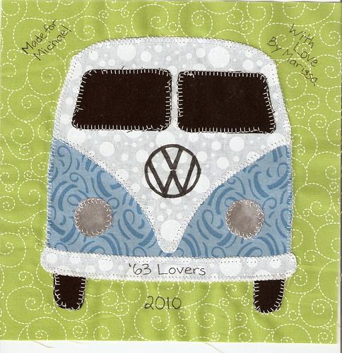VW Bus Quilt Label