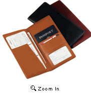 96 Leather Passport Airline Ticket Holder