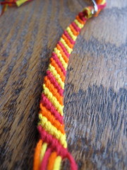 Fire friendship bracelet