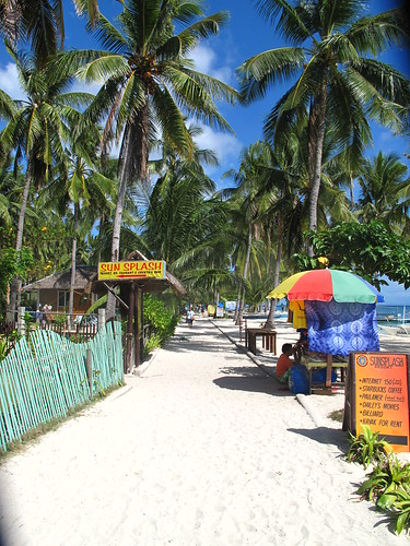 Main street on Malapascua beach, Visayas, Philippines