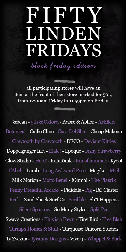 Fifty Linden Fridays 17 - Black Friday