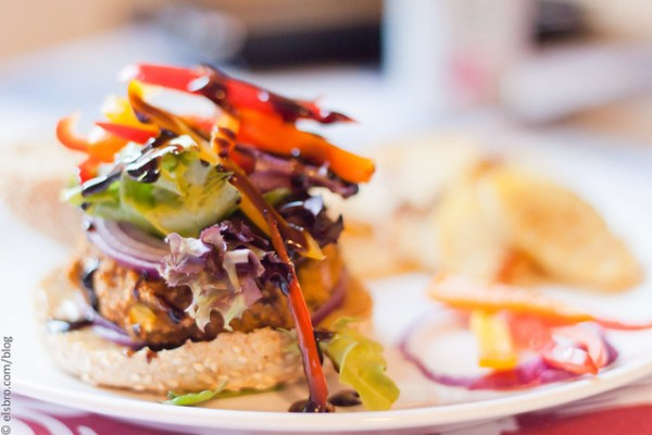 Dinner - Chickpea Burger & Fries