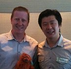 Ryan Tracey with top bloke, Dorjee Sun.