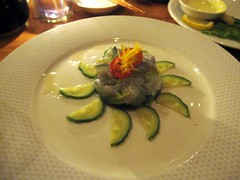 taka sushi cafe - blue shrimp tartar by foodiebuddha