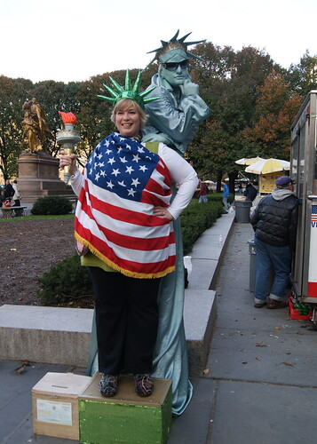 Kelle with the Statue of Liberty
