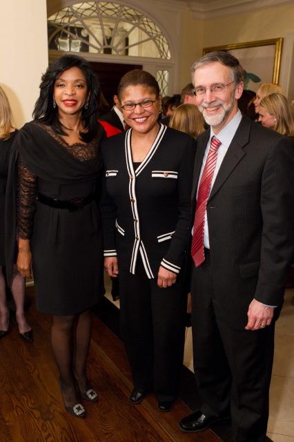 Pamela Joyner, Speaker of the California Assembly Karen Bass, Michael Piraino