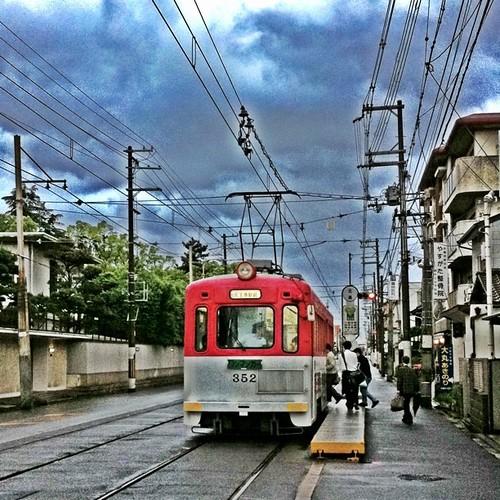 今朝の大阪、重々しいです。では、イッテキマース!#ohayo