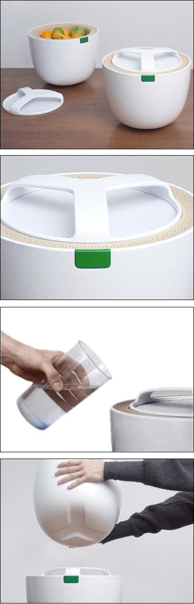 Thermodynamic Cooler uses passive evaporative effect to keep food fresh for days