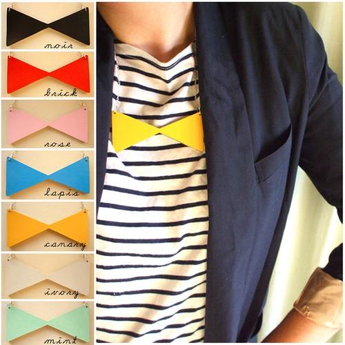 Lucie Ellen Necklace Bow Tie