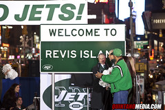 REVIS ISLAND Sign New York Jets Pep Rally Time...