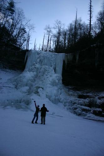 Cascades 2010 - Vicky and Ryan Under Falls (Portrait)