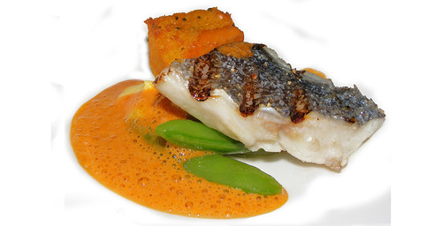 Seabream with polenta