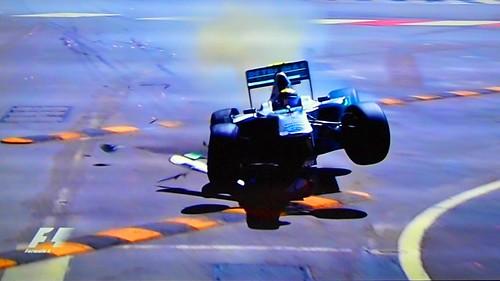 Monaco GP 2011 P3 Nico Rosberg Crash
