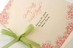 Folded Wedding Program with Ribbon