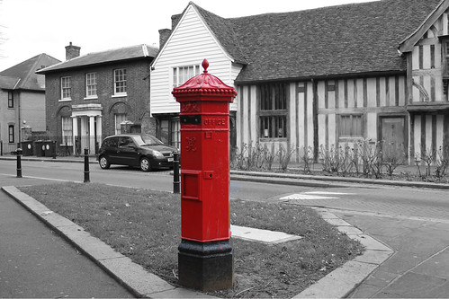 Post box outside the Vestry House