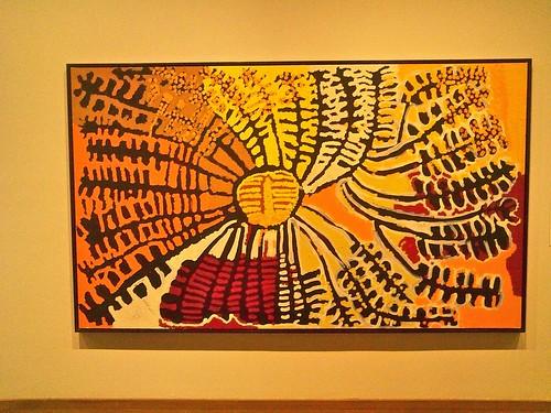 """Yarla Yam Dreaming"" by Lorna Fencer Napurrula (Australian, Walpiri/Ngaliya people)"