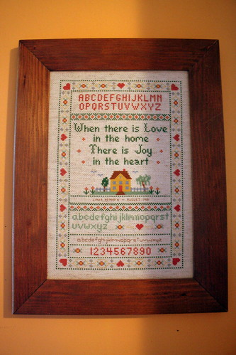 Vintage Monday - Cross Stitch Sampler, 1981