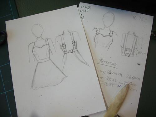 moose apron - sketch
