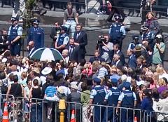 Prince William walking around the crowd