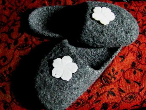 Easy Felted House Slippers #2 V.3