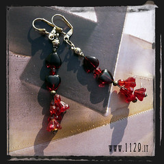 orecchini rossi - red earrings IMHACF